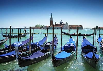 Photograph - Gondolas In Venice San Marco by Matthias Hauser