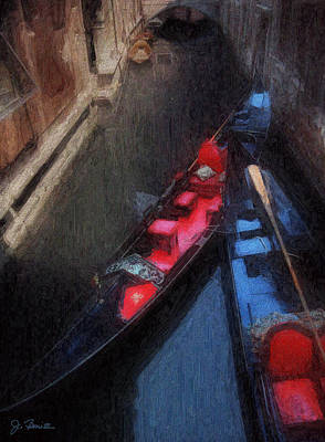 Photograph - Gondolas by Joe Bonita