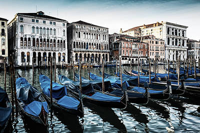 Photograph - Gondolas by M G Whittingham