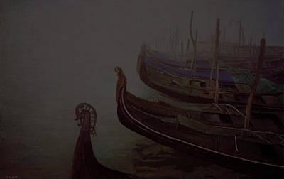 Painting - Gondolas by Masami Iida