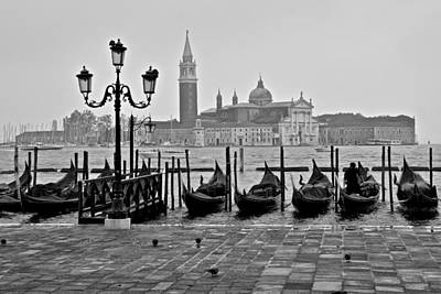 Photograph - Gondolas Of San Marco Square by Frozen in Time Fine Art Photography