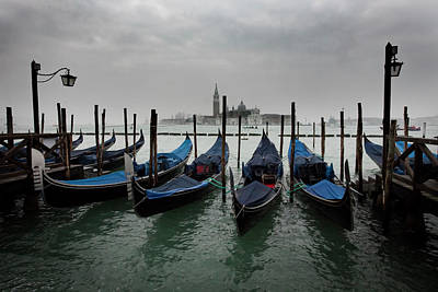 Amy Weiss - Gondolas of Venice by Linda D Lester