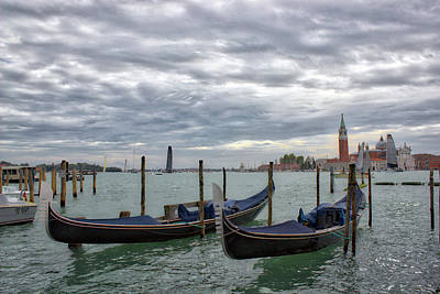 Photograph - Gondolas On The Bay - Venice, Italy by Alexis Lee Scott