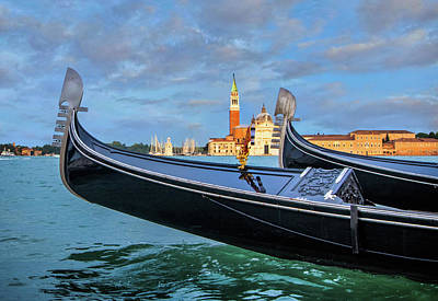Photograph - Gondolas On The Grand Canal by Carolyn Derstine