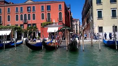 Photograph - Gondolas On The Grand Canal  Venice by Rusty Woodward Gladdish