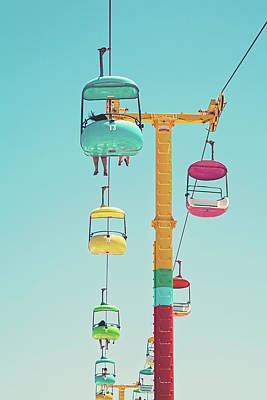 Photograph - Gondolas - Sky Gliders Santa Cruz California by Melanie Alexandra Price