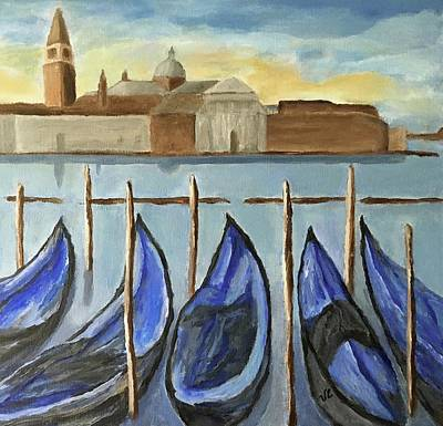 Painting - Gondolas by Victoria Lakes