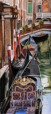 Royalty Free Images - Gondole Colorate Royalty-Free Image by Guido Borelli