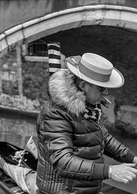Photograph - Gondolier At Work by Georgia Fowler