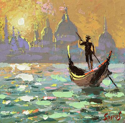 Painting - Gondolier by Dmitry Spiros