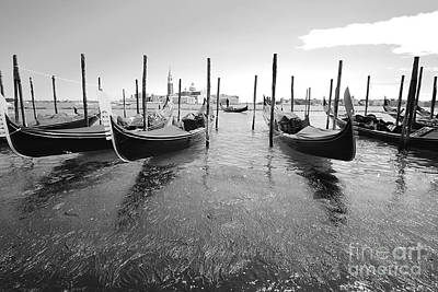 Gondolier In The Distance Art Print by Floyd Menezes