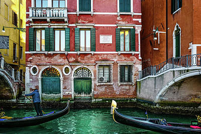 Photograph - Gondolier by M G Whittingham