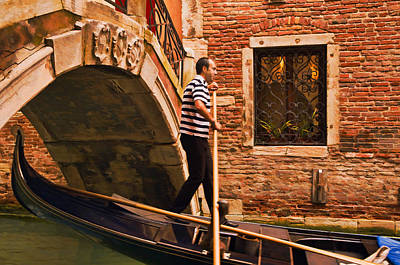 Digital Art - Gondolier by Mick Burkey