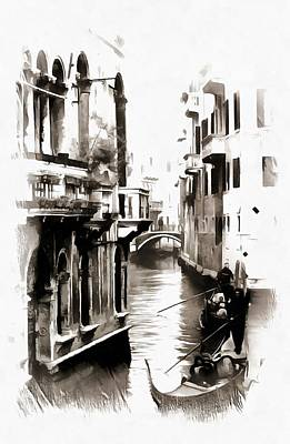 Photograph - Gondoliers In Venice by Dorothy Berry-Lound