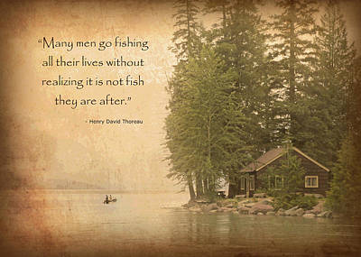 Thoreaus Cabin Photograph - Gone Fishing... by David Ross