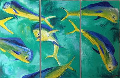Painting - Gone Fishing by Sarah LaRose Kane