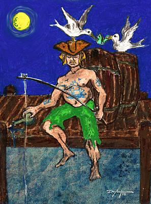 Gone Fishing Art Print by William Depaula