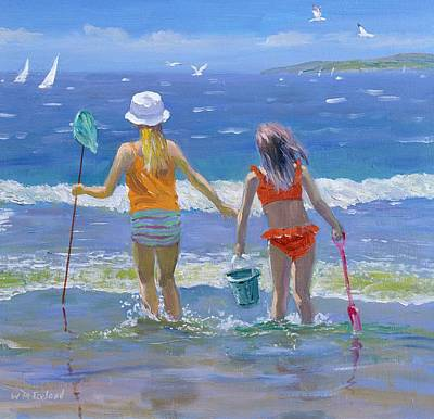 Paddling Painting - Gone Fishing  by William Ireland