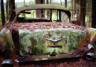 Photograph - Gone Girl Old Car Image Art by Jo Ann Tomaselli