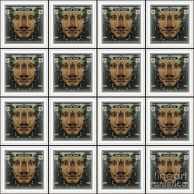 Digital Art - Gone Postal  Mona Lisa Smile by Jack Dillhunt
