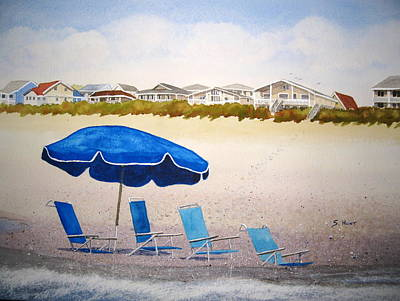 Sand Dunes Painting - Gone To Lunch by Shirley Braithwaite Hunt