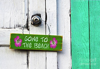 Photograph - Gone To The Beach by Roselynne Broussard