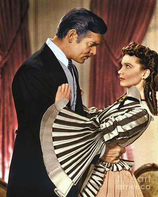 Gone With The Wind - 1939 - Completely Retouched In Color Art Print