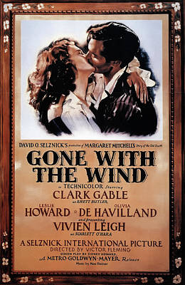 Mixed Media - Gone With The Wind 1939 by Mountain Dreams