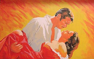 Southern Plantation Painting - Gone With The Wind by Bob Gregory