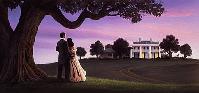 Gentlemen Painting - Gone With The Wind by Jerry LoFaro