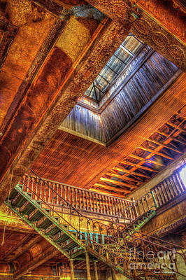Gone With The Wind Maxeys Georgia Staircase And Skylight Art Print by Reid Callaway