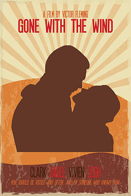 Painting - Gone With The Wind Poster Print - You Should Be Kissed And Often And By Someone Who Knows How by Beautify My Walls