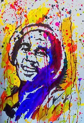 Soap Suds - Gong  Ink Portrait  by Collin A Clarke