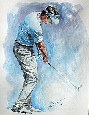 Golf Art Painting - Gongalo Fernandezcastano by Mark Robinson