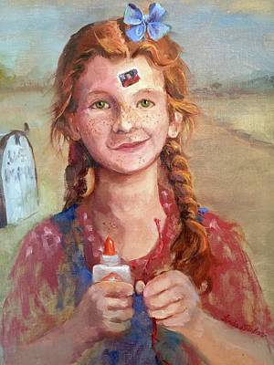 Woody Guthrie Painting - Gonna Mail Myself To You by Linda Dunbar