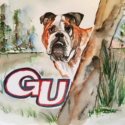 Painting - Gonzaga Bulldog by Elaine Duras