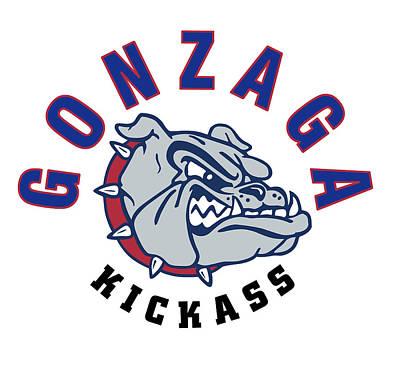 Gonzaga Bulldogs Kickass Art Print