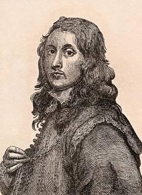 Flemish Drawing - Gonzalez Coques 1614-1684 Flemish by Vintage Design Pics
