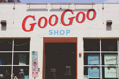 Nashville Sign Photograph - Goo Goo Shop- Photography By Linda Woods by Linda Woods