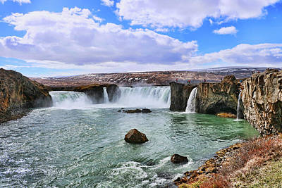 Photograph - Gooafoss Waterfall # 2 by Allen Beatty