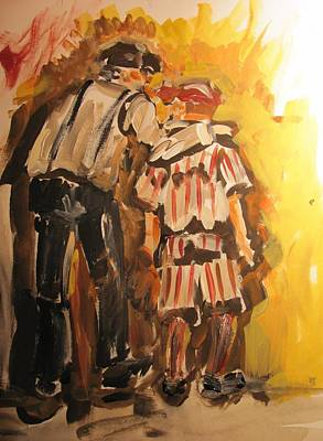 Little League Painting - Good Advice by Terri Einer