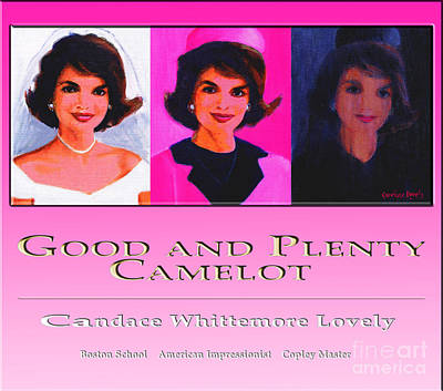 Painting - Good And Plenty Camelot Poster by Candace Lovely