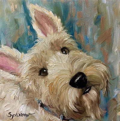 Scottish Terrier Painting - Good As Gold  by Mary Sparrow