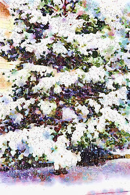 Sparkly Painting - Good Bye Winter by Angela A Stanton