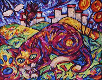 Painting - Good Cat Lollipop by Dianne  Connolly