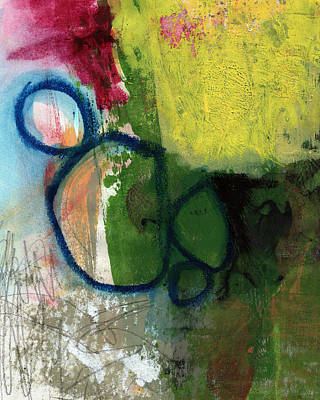 Good Day-abstract Painting By Linda Woods Print by Linda Woods