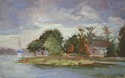 Betty Billups Painting - Good Day For Sailing - Plein Air  Eastern Shore by Betty Jean Billups