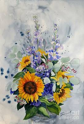 Wall Art - Painting - Good Day Sunshine by Sonia Mocnik
