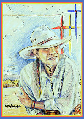 Thomas Kinkade - Cowgirl 1 by Cat Culpepper