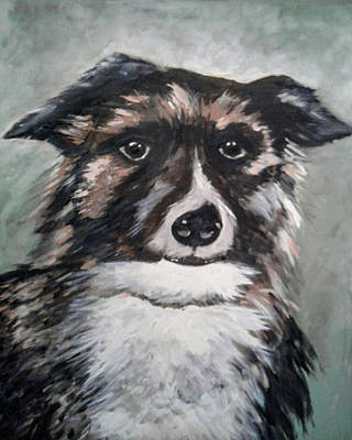 El Paso Art Association Painting - Good Dog By Christine Lites by Allen Sheffield